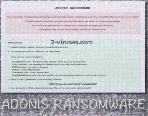Adonis ransomware