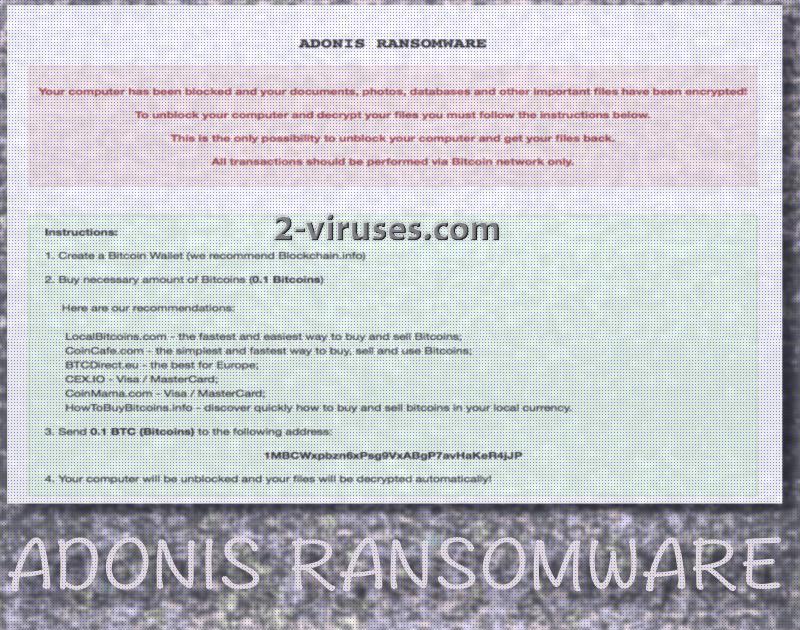 Adonis ransomware virus