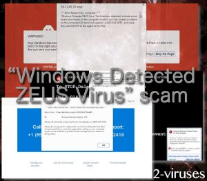 """Windows Detected ZEUS Virus"" bedrägeri"