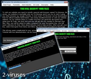 File Spider ransomware