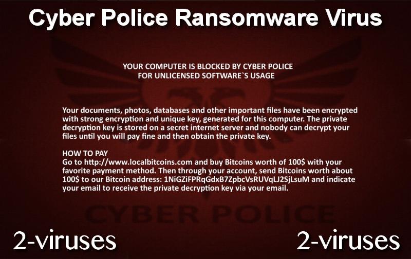 Cyber Police Ransomware Virus remove
