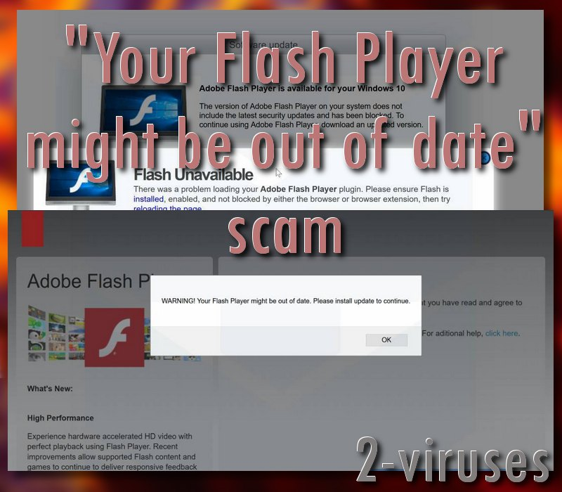 Your Flash Player might be out of date scam